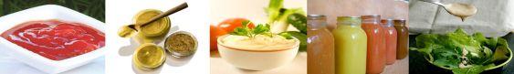 Les sauces froides : Ketchup, moutarde, mayonnaise, vinaigrette et sauces salades, sauces variétés