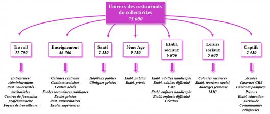 Univers des restaurants de collectivités